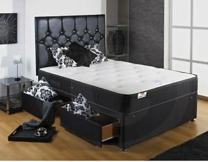 Single, Double, King & Super King Divan - Backcare Support Divan Bed + Mattress