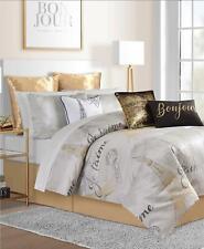 Sunham Je T'aime Paris Metallic 14 Piece King Comforter Set Multi $460