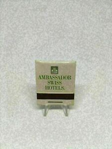 KA) Vintage Matchbook Ambassador Swiss Hotels Best Western Unstruck