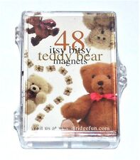 48 Itsy Bitsy Teddy Bear Refrigerator Magnets Teddy Bear Gift New !!!