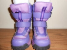 Unbranded Girls Pink/Purple Winter Boots 2M