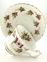 Vintage Teacup and Saucer Royal Albert Canada Fine Bone China England Maple T390