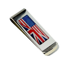 British and US Flag Mixed Money Clip in a Gift Organza Bag - XMC1103C-009