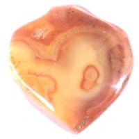 Agate Antique Carnelian Stone Heart West African trade Bead-Pendant