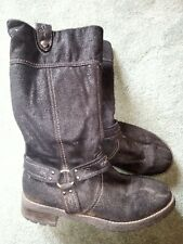 Pair Of Girls Black Boots Size 3