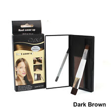 Dexe Temporary Hair Color Powder Hair Root Cover Up Black Dark Brown With Brush