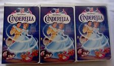 "Walt Disney ""Cinderella"" (Unique Triplet VHS Set) Masterpiece Collection"