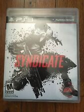 Syndicate (Sony PlayStation 3, 2012) No manual