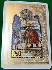 Playing Cards 1 Swap Card Vintage Wide P&O BRITISH INDIA LINE Shipping ELEPHANT