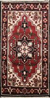 Geometric Traditional Hand-Knotted Heriz Oriental Area Rug Wool Carpet 2x4 ft