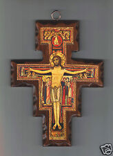 Crocifisso in Legno Croce di San Damiano 18,50 x 14 cm
