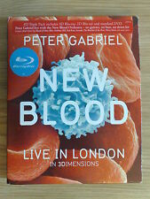PETER GABRIEL - NEW BLOOD - 2 BLUE-RAY DISC + DVD COME NUOVO (MINT)