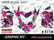 SKI-DOO XP MXZ SNOWMOBILE SLED WRAP GRAPHICS STICKER DECAL KIT 2008-2013 5118