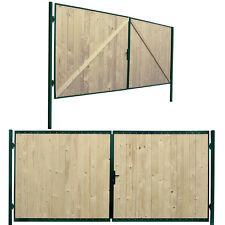 Wooden Driveway Gate Garden Door Farm Steel Frame Gates 400x180 New