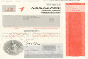 Canadian Helicopters > CHC Helicopter Corporation > Canada stock certificate