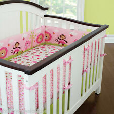 Full Surround Bedding 7PCs Baby Crib Cot Bassinette Bumper Pad Padded & Quilted