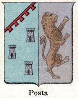 Posta: Piccolo Stemma Comunale del 1901. Rieti. Cromolitografia + Passepartout