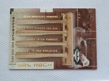 2002 Fleer Box Score Bat Rack Quads #6 - Alex Rodriguez Jeter Nomar Tejada /150