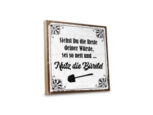 Holzschild mit Spruch – TOILETTENSCHILD