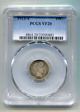 1913-S BARBER DIME PCGS VF20 VERY FINE NICE ORIGINAL COIN BOBS COINS FAST SHIP