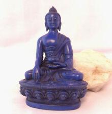 "Shakyamuni Buddha 4.5""H  Blue Color Resin Statue"