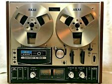 Akai 4400 Convert-A-Deck Built-In-Speakers Tape Deck Reel-To-Reel - See Video