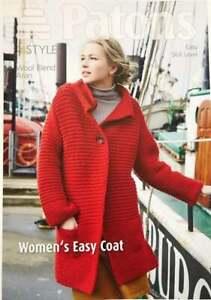 Patons 4044 Easy Knitting Pattern WoolBlend Aran LadiesWomens Easy Coat Cardigan