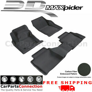 3D Maxpider All Weather Floor Mats L1LC00601509 For Lincoln MKZ 13-16 Kagu BLK