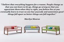 Vinyl Wall Decal Sticker Room Decor Saings Quotes Inspiring Marilyn Monroe F1995