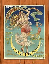 "TIN-UPS TIN SIGN ""Le Orient"" Theater Ad Vintage Gipsy Kitchen Wall Decor"