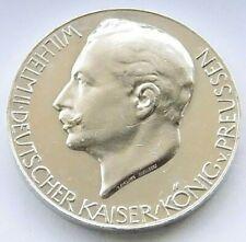 GERMAN Medal 1914 Empire PRUSSIA WILHELM II Thronrede Silver +RARE Zetzmann 2014