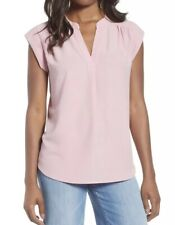 GIBSON X Front Quarter Sleeve Tunic Top (S) Nordstrom