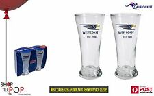 West Coast Eagle AFL 2 Pack Skol Middy Beer Glasses 250ml  Man CAVE