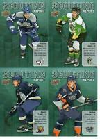19/20 UD CHL HOCKEY LOT OF 4 SCOUTING REPORT INSERT CARDS BYFIELD CLARKE