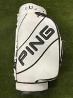 Ping Oversized Fitting Tour Staff Demo Golf Bag White Black 9-Way Divide