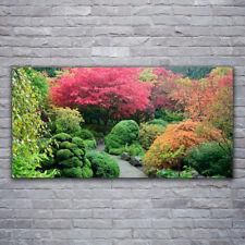 Image sur verre acrylique Tableau Impression 120x60 Nature Jardin Fleurs Arbre