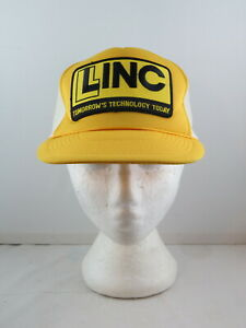 Vintage Patched Trucker Hat - Linc Technology - Adult Snapback