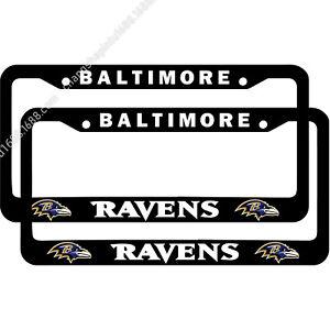 Baltimore Ravens 2PCS Metal Chrome License Plate Frame Auto Truck Car Tag Cover