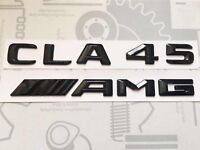 Mercedes CLA45 AMG Badge Emblem Decals New Style Gloss Black
