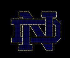 NOTRE DAME Inspired Logo Fan Art Rhinestone Iron On Transfer Hot Fix Bling