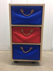 Lazzari 3 Draw Toy Storage Unit