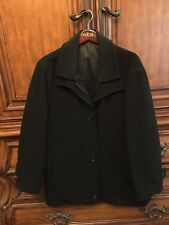 Ralph Lauren Overcoat winter coat Men's Black Medium Look!