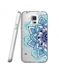 Carcasa Galaxy S5 Mandala 2 Azteca Étnico Flor Azul Doodling Transparente