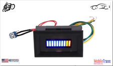12V Unversal Motorcycle~Car LED Oil scale meter Gauge Indicator~Snap-In Mounting