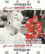 2007-08 DETROIT RED WINGS SEASON TICKET STUB PICK YOUR GAME DROPBOX NIK LISTROM