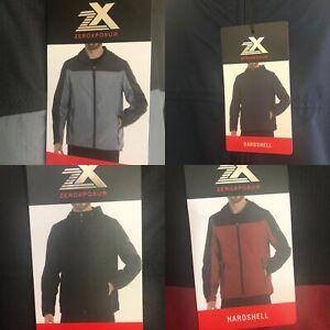 ZX Zeroxposur Men Jacket Windbreaker Light Hardshell Packable Hooded Waterproof