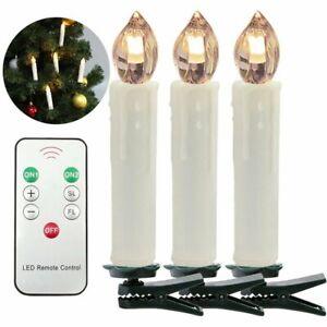 LED Weihnachtskerzen kabellose Wasserdichte Lichterkette mit Timer 30X
