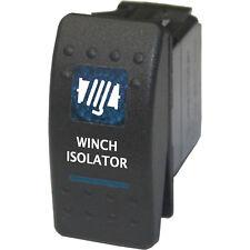 Rocker switch 550B 12V Winch Isolator ON-OFF blue offroad 4wd