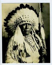 FANTASTIC Native American Chiefs 3 photos Blackfoot RARE Indian Photographer