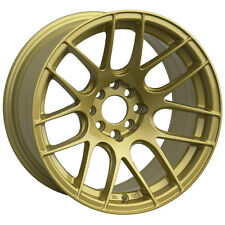 17X7 XXR 530 WHEELS 5X100/114.3 +35MM 73.1 GOLD RIM FITS SUBARU STI (5X114.3)